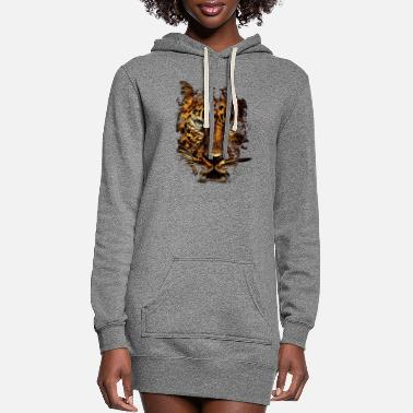 Leopard Leopard - Women's Hoodie Dress