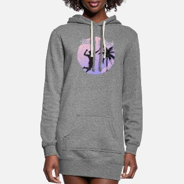 Skateboard Vencie Beach Volleyball - Women's Hoodie Dress