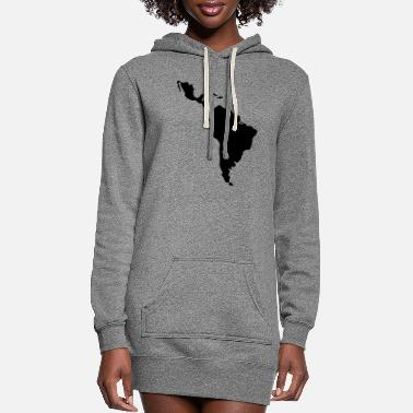 South America Latin America - South America - Women's Hoodie Dress