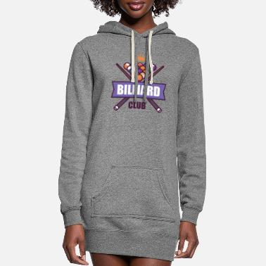 Ball Billiards Cue Sticks and Balls. - Women's Hoodie Dress