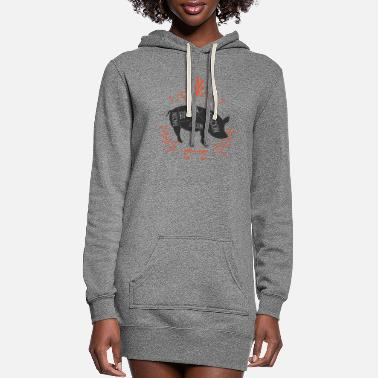 Bacon Bacon Bacon Bacon Bacon - Women's Hoodie Dress
