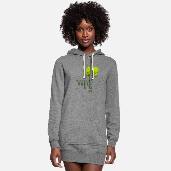 Save Hoodies & Sweatshirts - Save Trees save Life - Women's Hoodie Dress heather gray