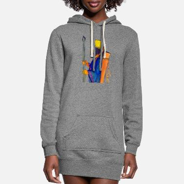 A Persian Guard watercolor painting - Women's Hoodie Dress