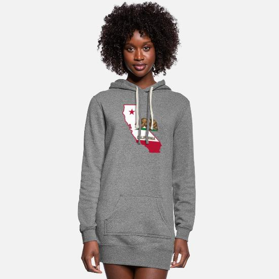 California Hoodies & Sweatshirts - CALIFORNIA - Women's Hoodie Dress heather gray