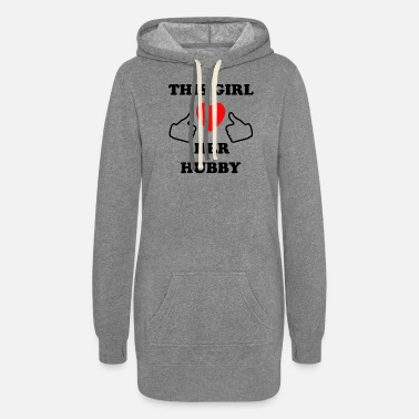 This Guy Loves His Boyfriend this girl loves her hubby - Women's Hoodie Dress