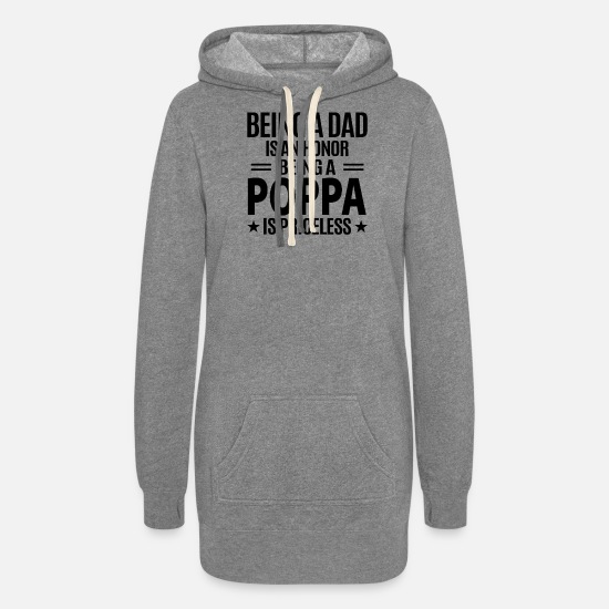 Poppa Hoodies & Sweatshirts - Poppa - Women's Hoodie Dress heather gray