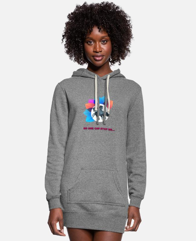 Can Hoodies & Sweatshirts - No one can stop me - Women's Hoodie Dress heather gray