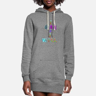 I can and I will - Women's Hoodie Dress