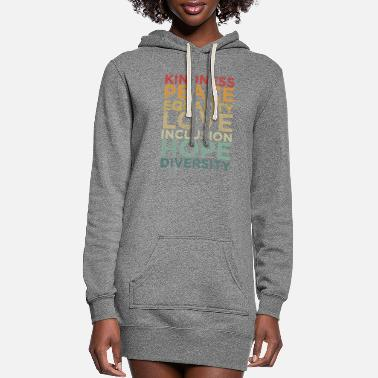 Human Righ Peace Love Diversity Inclusion Equality Human Righ - Women's Hoodie Dress