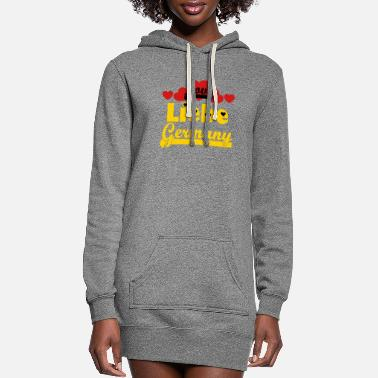 European Champion ❤️⚽✦Liebe Germany-I Love Germany-Best Country - Women's Hoodie Dress