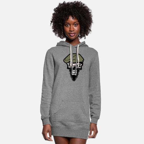 Skull Hoodies & Sweatshirts - skull - Women's Hoodie Dress heather gray