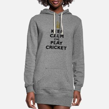 Keep calm and play cricket - Women's Hoodie Dress