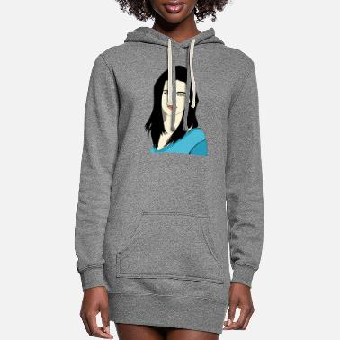 Young Ladies Young Lady Portrait - Women's Hoodie Dress