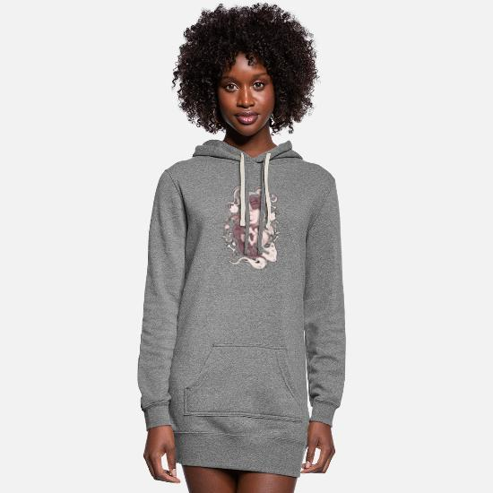 Dragon Hoodies & Sweatshirts - Dragon hug unicorn - Women's Hoodie Dress heather gray