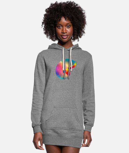 Pearl Hoodies & Sweatshirts - iridescent shell in the shape of a snail - Women's Hoodie Dress heather gray