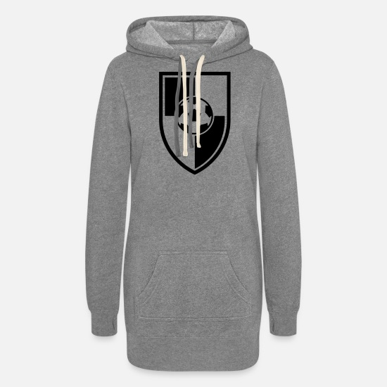 Symbol  Hoodies & Sweatshirts - Soccer Blazon Logo 03_1c - Women's Hoodie Dress heather gray
