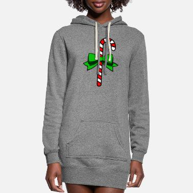 Sweetmeat candy cane - Women's Hoodie Dress