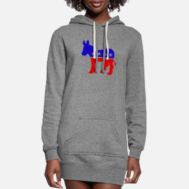 Democrat DEMOCRAT DONKEY DEMOCRATS - Women's Hoodie Dress