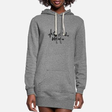 Mobile Phone Mobile phone Heartbeat - Women's Hoodie Dress