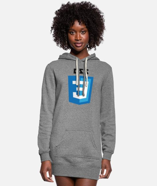Css3 Hoodies & Sweatshirts - CSS3 Logo - Women's Hoodie Dress heather gray