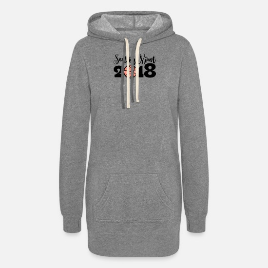 Senior Hoodies & Sweatshirts - Senior Mom 2018 Basketball - Women's Hoodie Dress heather gray