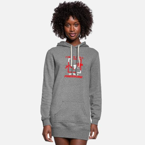 Love Hoodies & Sweatshirts - I work well under pressure gift water sport love - Women's Hoodie Dress heather gray