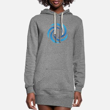 wave image icon - Women's Hoodie Dress