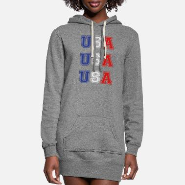 Usa USA USA USA - Women's Hoodie Dress