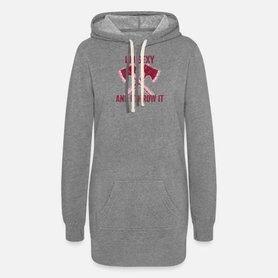 Gift Idea Hoodies & Sweatshirts - Axe throwing throwing Tomahawk double ax gift - Women's Hoodie Dress heather gray