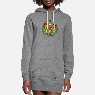 Sacred Geometry Ideas mandala - Women's Hoodie Dress