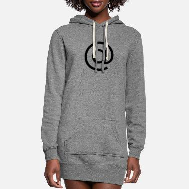 Symbol @ - At Symbol - Women's Hoodie Dress