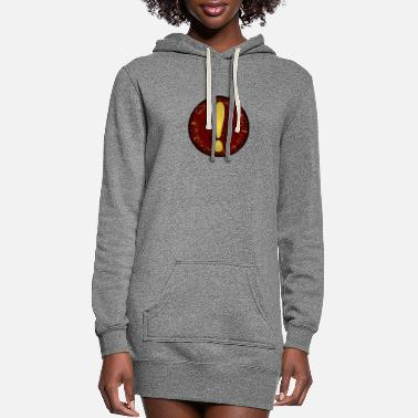 Mark Something exclamation mark - Women's Hoodie Dress