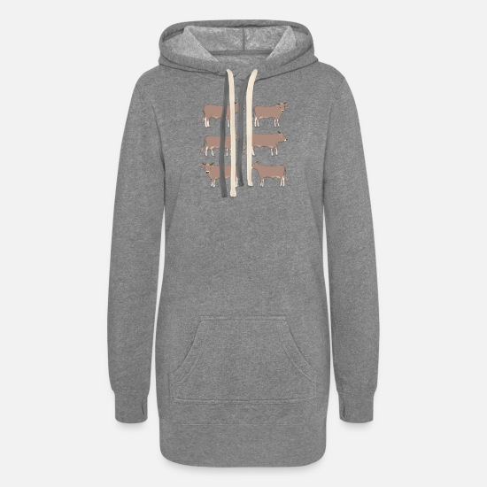 Mountains Hoodies & Sweatshirts - brown cattle - Women's Hoodie Dress heather gray