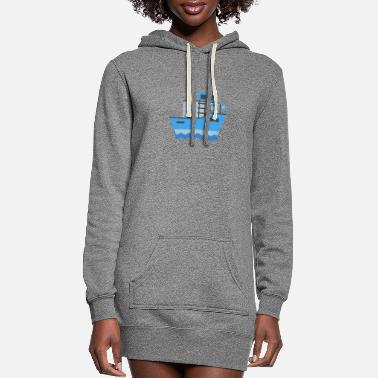 Boat Ship, Boat, Boating - Women's Hoodie Dress