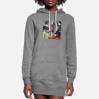 Dollar Money Flying to me artistic design - Women's Hoodie Dress