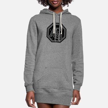 Initial AG monogram initial letters - Women's Hoodie Dress