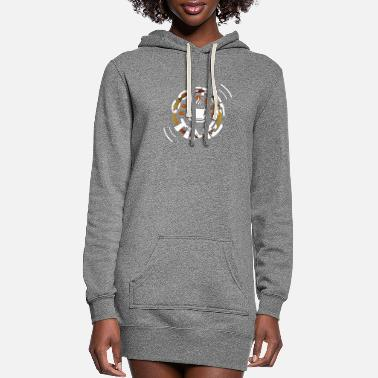 Husband Coffee Time - Women's Hoodie Dress