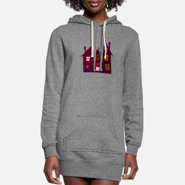 Spooky house - Women's Hoodie Dress