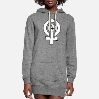 Right Feminist - feminist -gender equality rights enough - Women's Hoodie Dress