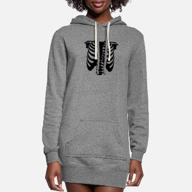 Skeleton Human Bones - Women's Hoodie Dress