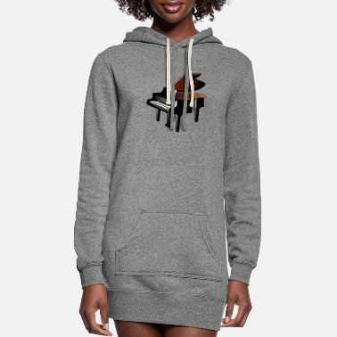 Piano piano - Women's Hoodie Dress