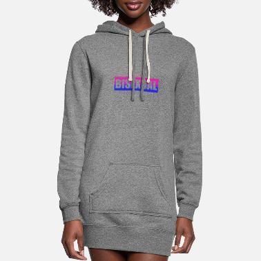 Proud Bisexual LGBT Gay Pride Coming Out Rainbow CSD - Women's Hoodie Dress