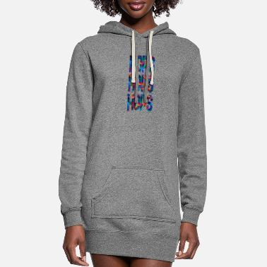 Hop hops hops hops 1 - Women's Hoodie Dress