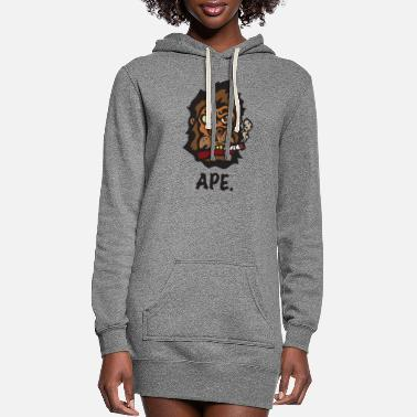 Ape Ape - Women's Hoodie Dress