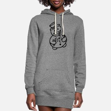 Snowman snowman - Women's Hoodie Dress