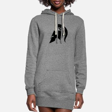 Spartan helmet - Women's Hoodie Dress