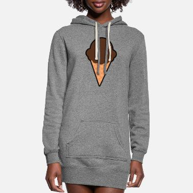 Sweetmeat Chocolate IceCream Cone - Women's Hoodie Dress