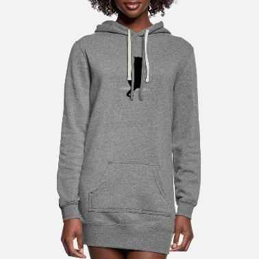 Silhouette Cat silhouette silhouettes - Women's Hoodie Dress