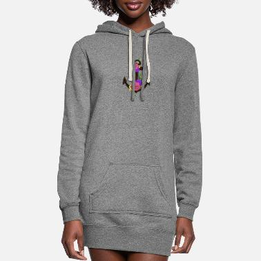 Anchor Floral Anchor - Women's Hoodie Dress