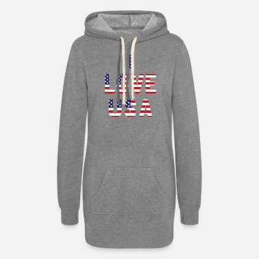 I Love I Love USA - Women's Hoodie Dress